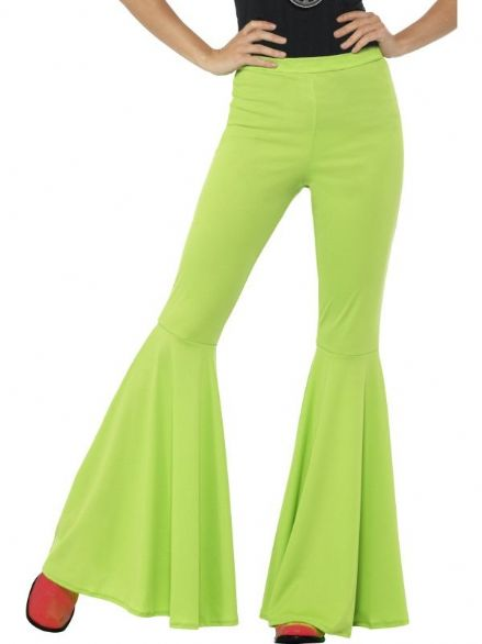 Green Flared Trousers